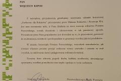 Grupa Kapias list Starosty Pszczyńskiego 2014