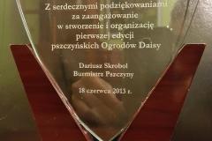 Grupa Kapias statuetka Burmistrza Pszczyny Ogrody Daisy 2013
